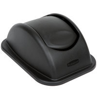 Rubbermaid FG306600BLA Black 15 inch Untouchable Soft Wastebasket Lid
