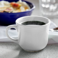 Tuxton CWF-0702 Concentrix 8 oz. White Round China Cup - 24/Case