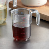 Choice 1 Cup Clear Plastic Measuring Cup with Gradations