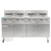 Frymaster FPGL430-6RC Liquid Propane Floor Fryer with Full Left Frypot / Three Right Split Pots and Automatic Top Off - 300,000 BTU