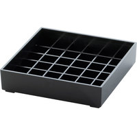Cal-Mil 681-4-13 Classic 4 inch Black Square Drip Tray