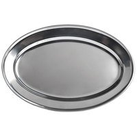 15 3/4 inch x 8 1/2 inch Oval Stainless Steel Platter