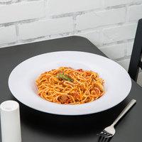Carlisle 3303002 Sierrus 12 inch White Melamine Chef Salad / Pasta Bowl - 12/Case
