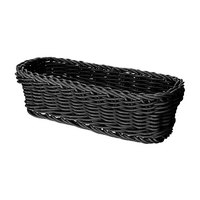 GET WB-1507-BK Designer Polyweave 10 inch x 4 3/4 inch x 3 inch Black Rectangular Plastic Basket