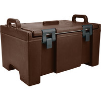 Cambro UPC100131 Camcarrier® Dark Brown Top Loading 8 inch Deep Insulated Food Pan Carrier