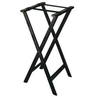 CSL 1500BLK 30 inch Black Plastic Tray Stand with Black Straps - 4/Pack