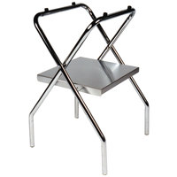 CSL 1054S-C 30 1/2 inch Zinc Steel Folding Tray Stand with Stainless Steel Shelf - 4/Pack