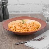 Syracuse China 922226357 Terracotta 30.5 oz. Mustard Seed Yellow Pasta Bowl - 12/Case
