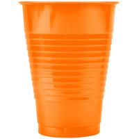 Creative Converting 28191071 12 oz. Sunkissed Orange Plastic Cup - 240 / Case