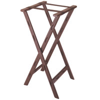 CSL 1500BRN 30 inch Brown Plastic Tray Stand with Brown Straps - 4/Pack