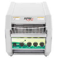 APW Wyott ECO-4000 QST 350L 10 inch Wide Conveyor Toaster with 1 1/2 inch Opening and Analog Controls 120V