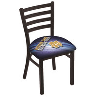 Holland Bar Stool L00418ND-ND-D2 Black Steel University of Notre Dame Chair with Ladder Back and Padded Seat