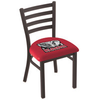 Holland Bar Stool L00418AL-Ele Black Steel University of Alabama Chair with Ladder Back and Padded Seat