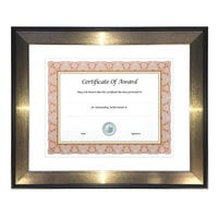 NuDell 15151 Director Series 8 1/2 inch x 11 inch Mahogany / Silver Document and Photo Frame