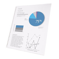 Swingline 2514479 ProClick 8 1/2 inch x 11 inch White Pre-Punched Presentation Paper - 250/Pack