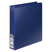Wilson Jones 36814NBL Dark Blue Non-View Binder with 1 inch Round Rings