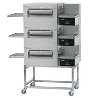 Lincoln Impinger II Express 1180-3/1180-FB3 FastBake Single Belt Electric Triple Conveyor Oven Package - 208V, 3 Phase, 30 kW