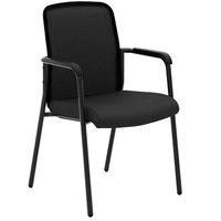 HON VL518ES10 Basyx Black Mesh Stackable Multipurpose Chair