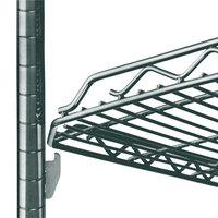 Metro HDM1436Q-DSG qwikSLOT Drop Mat Smoked Glass Wire Shelf - 14 inch x 36 inch