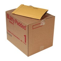 Jiffy 63182 7 1/4 inch x 12 inch Padded #1 Kraft Mailer - 100/Case