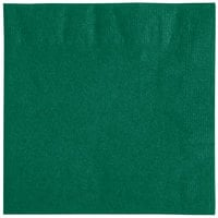 Choice 10 inch x 10 inch Hunter Green 2-Ply Beverage / Cocktail Napkins - 250/Pack