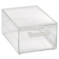 Vollrath SBB12 Cubic 1/2 Size Single Drawer Acrylic Bread Box with Reusable Chalkboard Labels and Chalk