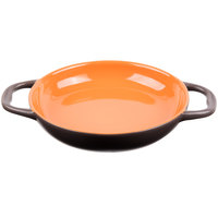 World Tableware CBP-003 Coos Bay 14 oz. Pumpkin Stoneware Round Baker - 12/Case
