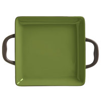 World Tableware CBO-001 Coos Bay 3.5 oz. Olive Stoneware Square Baker - 12/Case