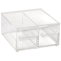 Vollrath SBB23 Cubic 2/3 Size Two Drawer Acrylic Bread Box with Reusable Chalkboard Labels and Chalk