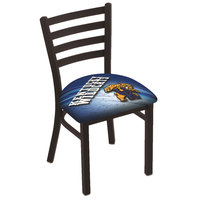 Holland Bar Stool L00418UKYCat-D2 Black Steel University of Kentucky Chair with Ladder Back and Padded Seat