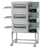 Lincoln Impinger II Express 1180-3/1180-FB3 FastBake Single Belt Electric Triple Conveyor Oven Package - 240V, 30 kW