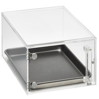 Vollrath SBC12 Cubic 1/2 Size Acrylic Pastry Display Case with Front Door, Reusable Chalkboard Labels, and Chalk