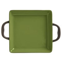 World Tableware CBO-002 Coos Bay 11 oz. Olive Stoneware Square Baker - 12/Case