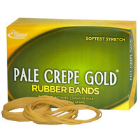 Alliance 20645 Pale Crepe Gold 3 1/2 inch x 1/4 inch #64 Rubber Band, 1 lb. - 490/Box