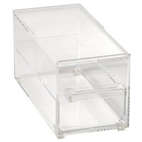 Vollrath SBB13 Cubic 1/3 Size Single Drawer Acrylic Bread Box with Reusable Chalkboard Labels and Chalk