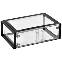 Vollrath SBC11 Cubic Full Size Acrylic Pastry Display Case with Front Doors, Reusable Chalkboard Labels, and Chalk