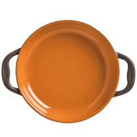 World Tableware CBP-001 Coos Bay 3 oz. Pumpkin Stoneware Round Baker - 12/Case