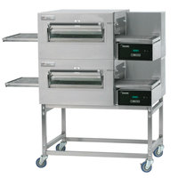 Lincoln Impinger II Express 1180-2/1180-FB2 FastBake Single Belt Electric Double Conveyor Oven Package - 208V, 3 Phase, 20 kW