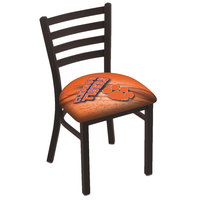 Holland Bar Stool L00418Clmson-D2 Black Steel Clemson University Chair with Ladder Back and Padded Seat