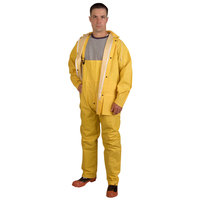 Yellow 2 Piece Rainsuit - XL