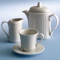 Homer Laughlin 1420-0042 Westminster Gothic Off White 7.75 oz. Creamer - 36/Case
