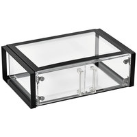 Vollrath SBC11F-06 Cubic Full Size Acrylic Pastry Display Case with Front Doors, Black Frame, Reusable Chalkboard Labels, and Chalk