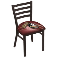 Holland Bar Stool L00418FSU-HD-D2 Black Steel Florida State University Chair with Ladder Back and Padded Seat