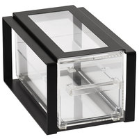 Vollrath SBB13F-06 Cubic 1/3 Size Single Drawer Acrylic Bread Box with Black Frame, Reusable Chalkboard Labels, and Chalk