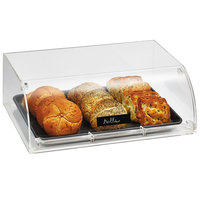 Vollrath NBC11 Cubic Full Size Curved Nose Acrylic Pastry Display Case with Front Door, Reusable Chalkboard Labels, and Chalk