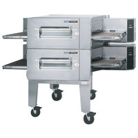 Lincoln Impinger 1600-2/1600-FB2 Natural Gas FastBake Low Profile Double Conveyor Oven Package - 220,000 BTU