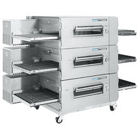 Lincoln Impinger 1600-3/1600-FB3 Liquid Propane FastBake Low Profile Triple Conveyor Oven Package - 330,000 BTU
