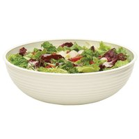 Cambro RSB23CW148 40 Qt. White Camwear Round Ribbed Bowl