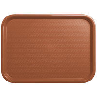 Carlisle CT121631 Cafe 12 inch x 16 inch Light Brown Standard Plastic Fast Food Tray