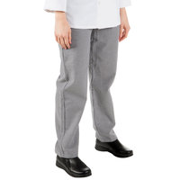 Mercer Culinary M61070HTM Genesis Women's 25 inch M Hounds Tooth 100% Cotton Chef Pants